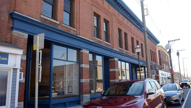 The Tighe Building on Main Street in downtown Danielson this February 24th.