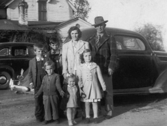 This photos from the late 1940s shows (back row) Archie