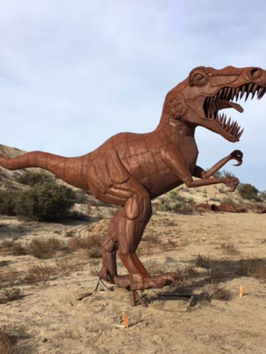 T. rex sculpture for La Quinta