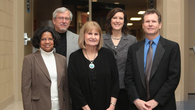 Five candidates are vying for three open seats on the Springfield Public Schools Board of Education. From left: Francine Pratt, Bruce Renner, Patty Ingold, Jill Patterson and Swayne Loftis.