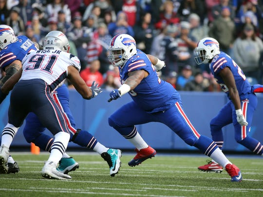Bills left tackle Dion Dawkins is getting more playing time with the injury to Cordy Glenn.