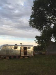 The exterior of a Fort Collins Airstream.