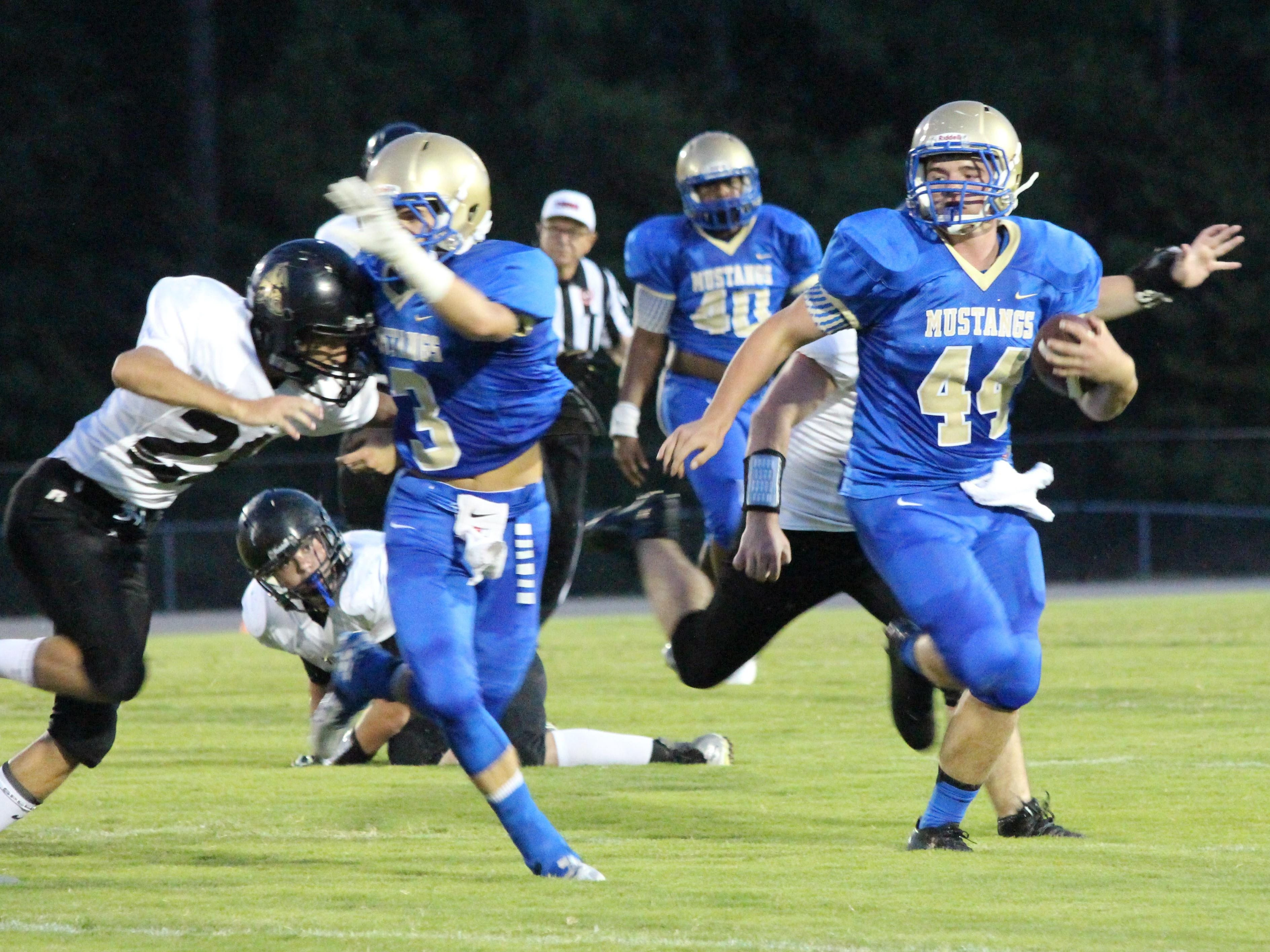 Huntingdon's Kade Pearson shared duties at quarterback with Dylan Johnson most of the season.