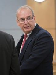 Rick Dye speaks on behalf of his son John Dye during