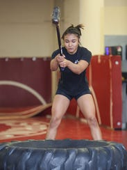 Palm Springs high school wrestler Cindy Zepeda works