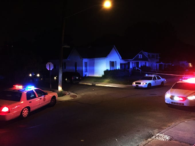 The scene of a Northside shooting where a man was killed