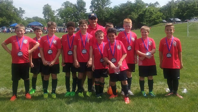 The Shippensburg Soccer Club U11 boys team, the Shippensburg Heat, placed second out of six teams at the HMMS Memorial Day Soccer Tournament on Sunday, May 29.