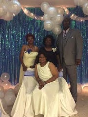 Leaders of the MBK and DIVAS program for youth at Philadephia Word Center are Tateisha Franklin-Kirkendoff, Andrea Nelson, Rev. Antoine Iseah and seated is Nancy Mack, wife of Pastor Alfred Mack. They are pictured at the 1st Annual King's Ball.