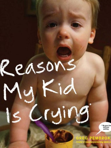 Kids cry for the silliest reasons. And guess what -- it can be funny! Parent Greg Pembroke's popular blog, Reasons My Son Is Crying, has been published as a book by Three Rivers Press. Take a peek inside.