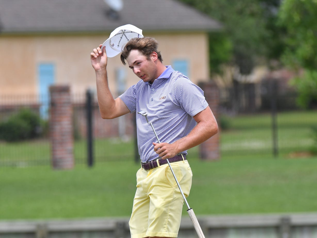 Shreveport's Sam Burns won the NCAA Baton Rouge Regional on Wednesday and led his LSU Tigers to a team tile and a berth in the NCAA Championship.
