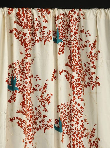Flocked Leaves Curtain 59 95 Pier One Imports