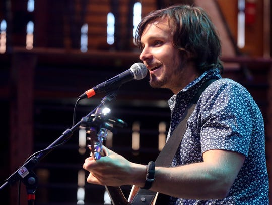 Charlie Worsham performs at the HGTV Lodge on the second