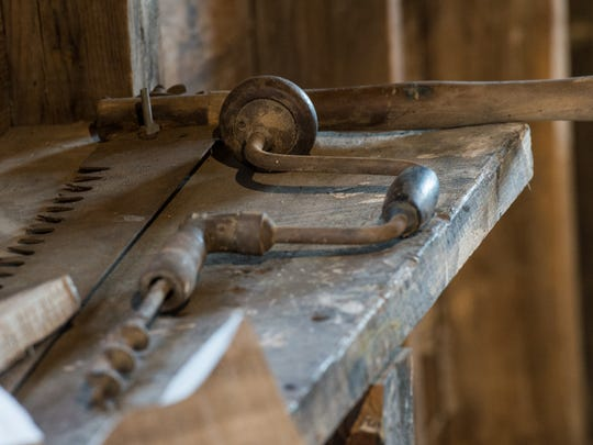 A view of a tool from Miles Hancock's workshop at the Museum of Chincoteague on Friday, March 23, 2018.