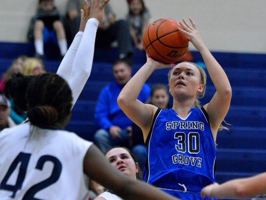 Conrad Weiser vs Spring Grove girls basketball