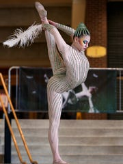 "Cirque du Soleil performer Alona Zhurvel gave a sneak peek of the troupe's new show ""Varekai"" at Bankers Life Fieldhouse in June. It runs from July 24-27th for six shows."