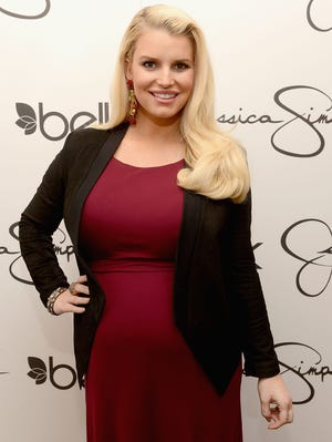 Jessica Simpson in March, pregnant with Ace.