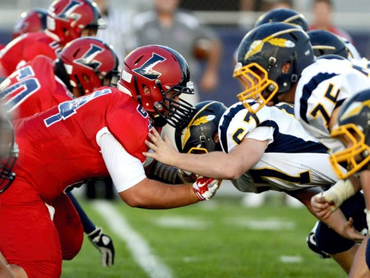 FILE PHOTO — GAMETIMEPA.COM Lebanon and Elco squared off last year over a 35-14 Cedars victory at Alumni Stadium on September 12, 2014.