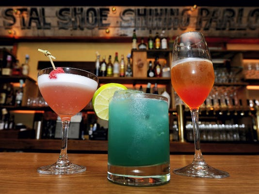 From left: The Clover Club, The Pale Blue Dot and the Suspended in a Sunbeam cocktails are on the menu at Otto's Kitchen & Cocktails in York.