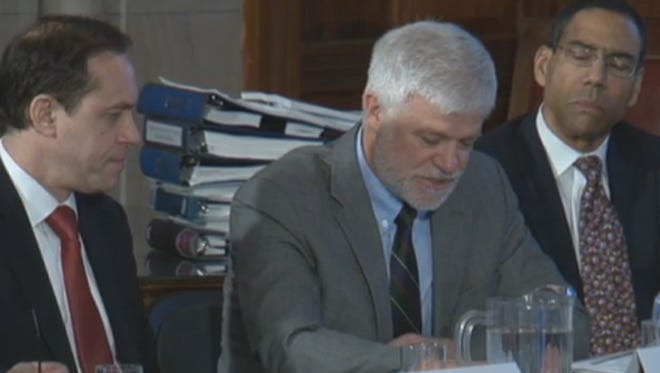 Officials discuss fracking at a meeting Wednesday in Albany.