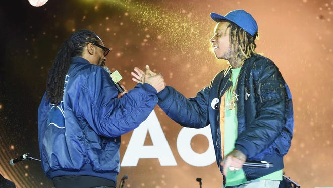 Snoop Dogg, left, and Wiz Khalifa will perform on Aug. 11 at Klipsch Music Center.