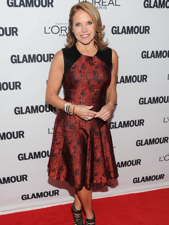 Katie Couric at 'Glamour' awards
