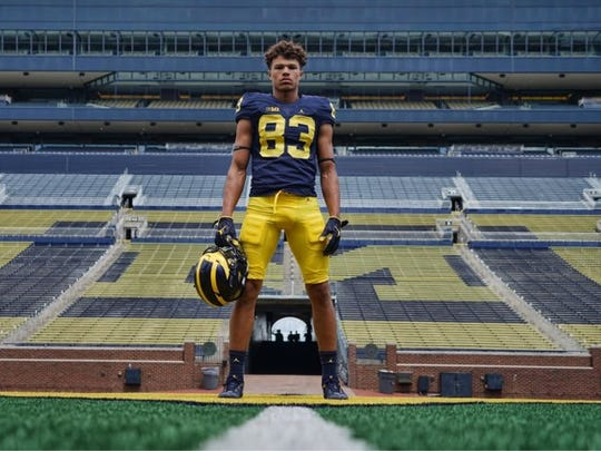 Erick All, a tight end from Ohio, committed to Michigan's