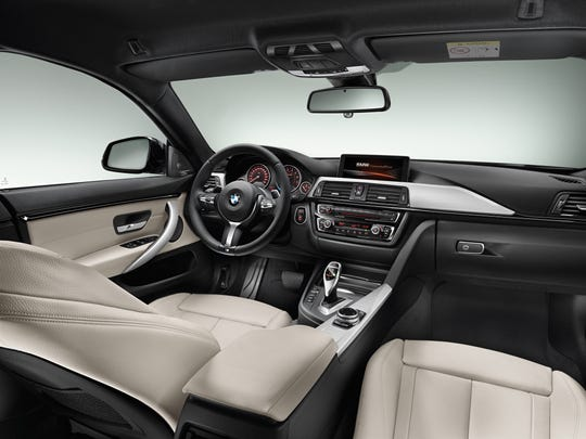 2015 BMW 435i Gran Coupe, M Sport Package interior.