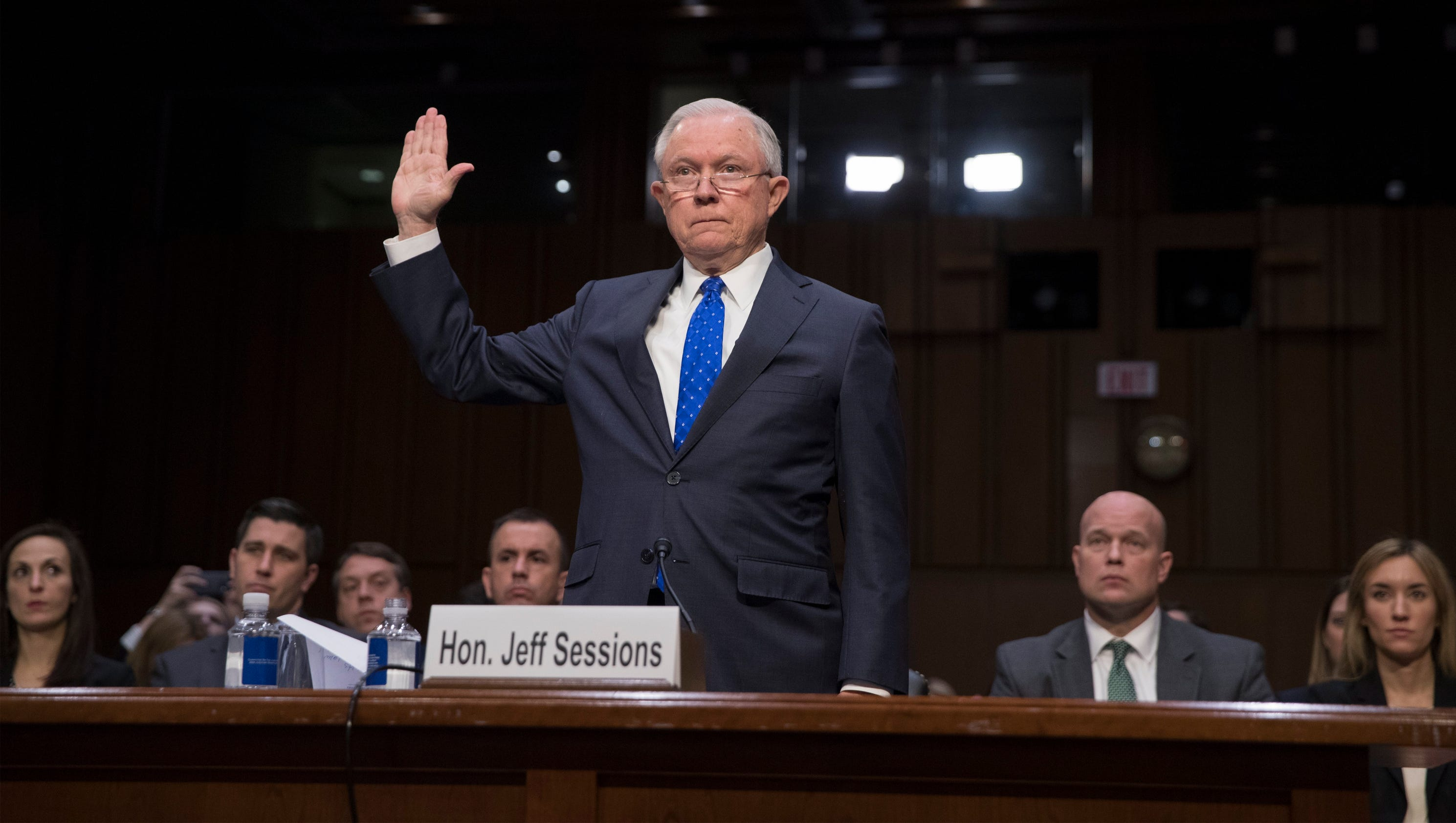 AG Jeff Sessions declines to answer questions about the firing of FBI director