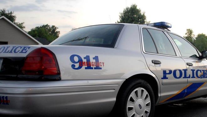 A Louisville Metro Police car