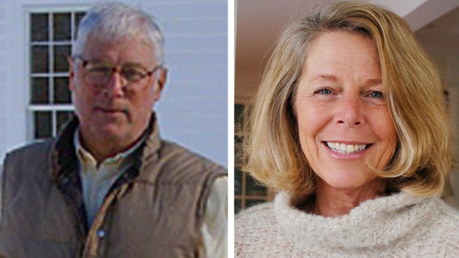 David McGuckin and Anne Miller are competing for a seat on the New Castle select board.