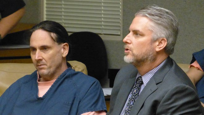 Robert Gibbs, left, was appointed a new attorney, Adam Ryan, in his criminal threats case.
