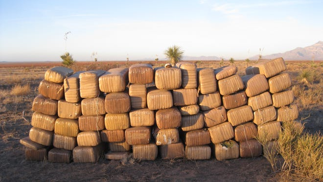 U.S. Border Patrol agents seized about $1.6 million in marijuana, pictured here, in New Mexico's Bootheel on Jan. 18, 2018.