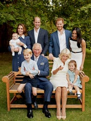 A more candid shot of the royal family.