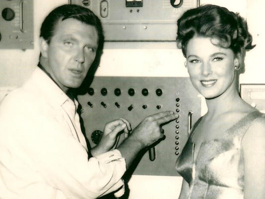 2. Mariette Hartley and Robert Lansing pose for a publicity still for the TZ