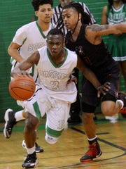 Bossier's Jacoby Decker tries to get past Northside's