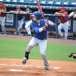 Kevin Brophy at Steinbrenner field in Tampa, Florida during the East Coast Pro MLB showcase.