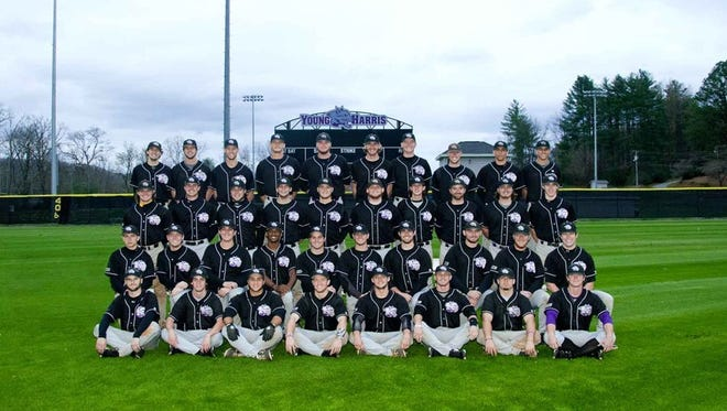 The Young Harris baseball team.