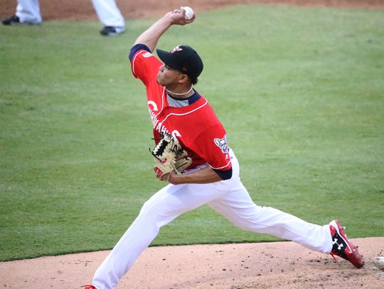 El Paso Chihuahuas pitcher Dinelson Lamet in action