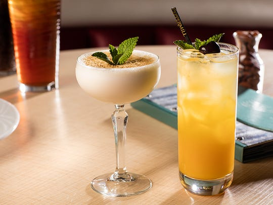 A sandhopper, left, and a wallbanger '16 offer Peppermill twists on classic cocktails to celebrate the property's 45th anniversary.