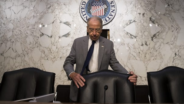 Chairman Chuck Grassley arrives for a Senate...