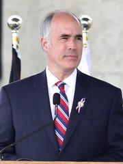 Senator Robert Casey, Jr. (D-PA) speaks  during the Flight 93 15th Anniversary Observance on Sunday September 11, 2016.
