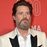 Jim Carrey attends the LACMA 50th Anniversary Gala sponsored by Christies at LACMA on April 18, 2015 in Los Angeles, California.