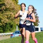 Franklin's Camryn Zurawski (front) played a key role in the Patriots' 4-1 dual-meet season.
