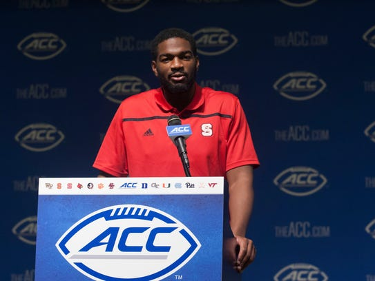 North Carolina State player Jacoby Brissett speaks