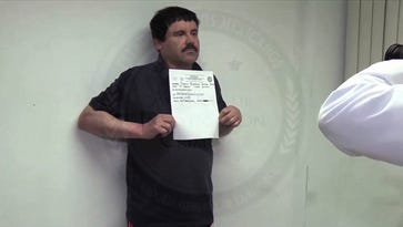 "Video grab released on January 27, 2016 by Mexican General Attorney office, showing Mexican drug kingpin Joaquin ""El Chapo"" Guzman in Altiplano maximum security federal prison in Almoloya de Juarez, State of Mexico. Mexican marines recaptured fugitive ""El Chapo"" Guzman on January 8 in the northwest of the country, six months after his spectacular prison break embarrassed authorities.  AFP PHOTO/PGR - RESTRICTED TO EDITORIAL USE-MADNATORY CREDIT AFP PHOTO / MEXICAN ATTORNEY GENERAL  -NO MARKETING, NO ADVERTISING CAMPAIGNS-DISTRIBUTED AS A SERVICE TO CLIENTS-BEST QUALITY AVAILABLE-GETTY OUTPGR/AFP/Getty Images ORIG FILE ID: 548313082"