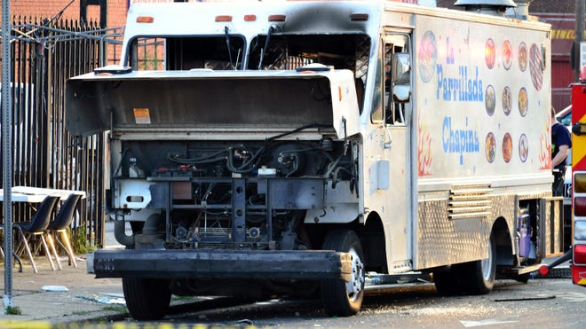 A food truck exploded Tuesday in Philadelphia.