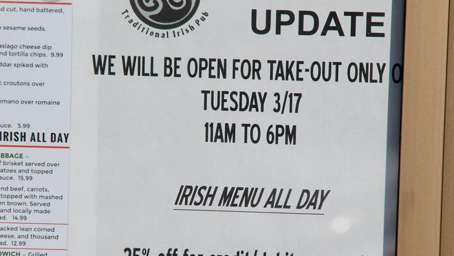 On March 16, an executive order in Michigan mandated all restaurants close dine-in service due to the coronavirus pandemic, as displayed on a sign in front of the Curragh in Holland. As part of a larger coronavirus relief package, Congress created the Paycheck Protection Program, which provided loans for businesses to stay in business during mandated shutdowns. On Monday, July 27, U.S. Reps. Fred Upton and Chrissy Houlahan introduced legislation aimed at streamlining the loan forgiveness process for small businesses who received PPP loans of less than $150,000.