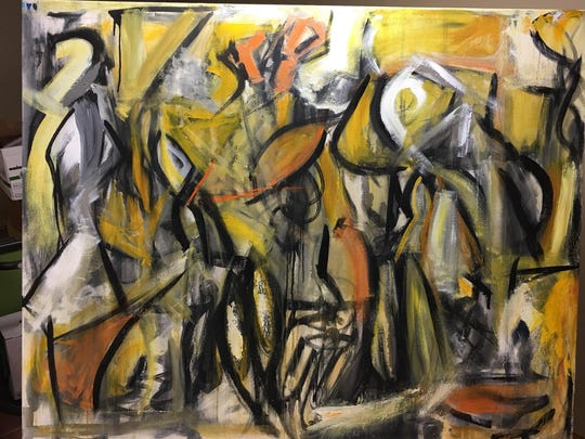 Painting, Parnell said, is sort of like dancing to