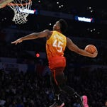 Former Louisville Card Donovan Mitchell wins NBA Slam Dunk competition
