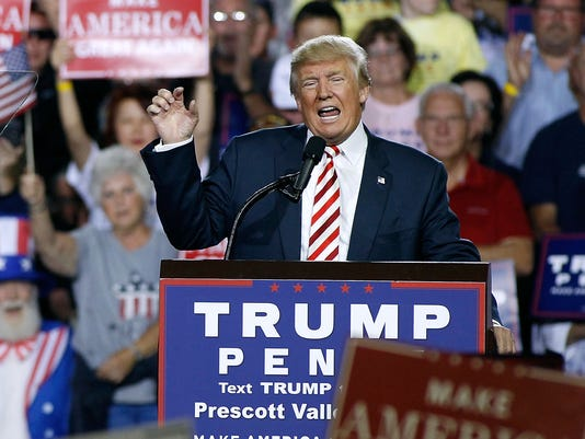 Republican Presidential Nominee Donald Trump Holds Rally In Arizona
